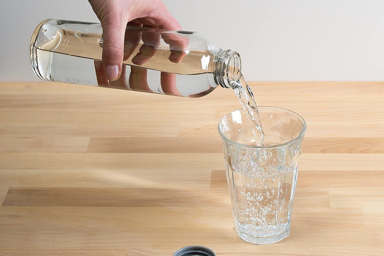 Screw-top Glass Water Bottle