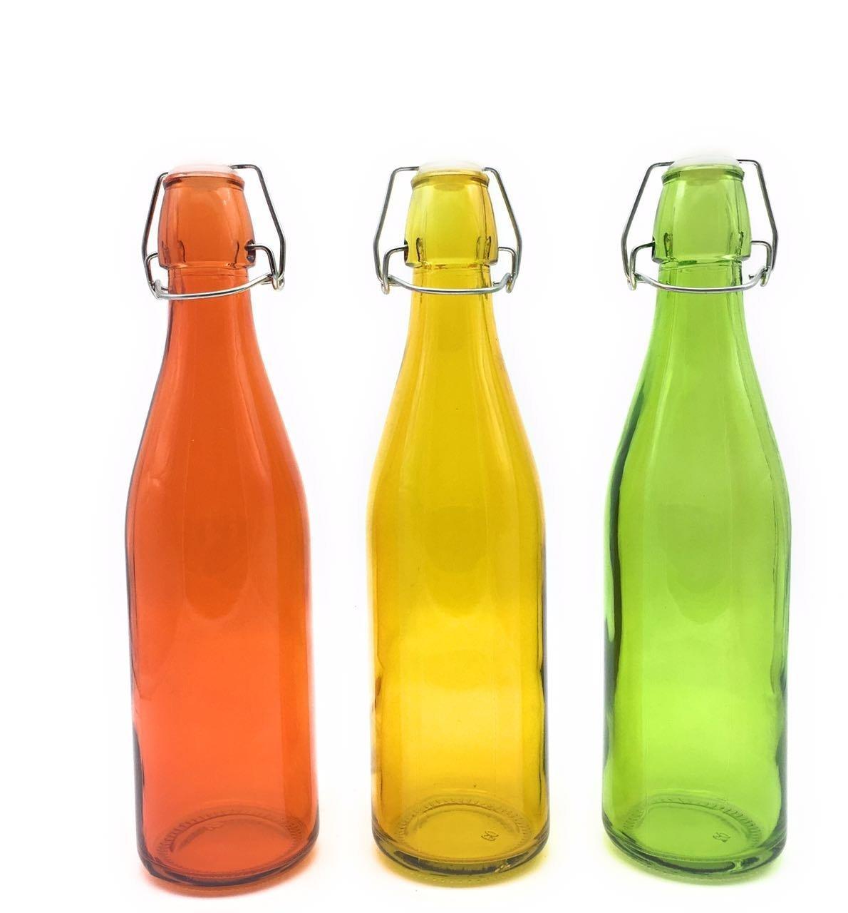 Swing-top Glass Water Bottle