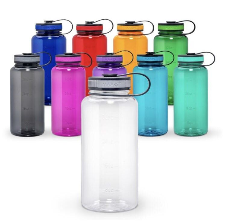 Wide Mouth Glass Water Bottle